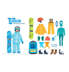 Set for creating character sport clothes tools vector