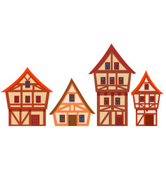 Set houses germany vector