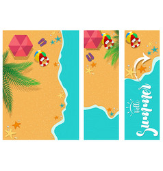 set summer time backgrounds vector image
