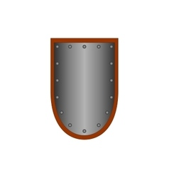 Sign shield silver 1105 vector image
