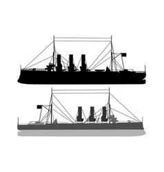 Silhouette of a ship vector