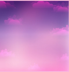 sky and clouds with vector image