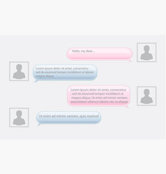 Smartphone chat bubbles vector