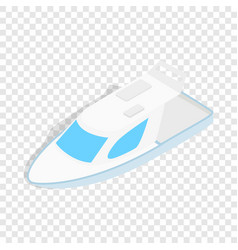 Speed boat isometric icon vector