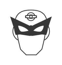 Superhero superman mask face design vector