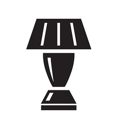 Table lamp black icon on white background vector image