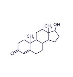 testosterone molecule on white vector image
