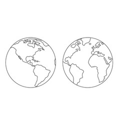 The image of the planet earth vector