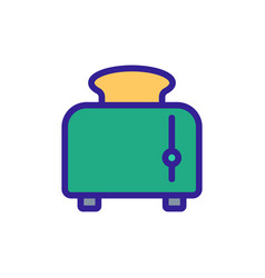 Toaster with finished product icon outline vector