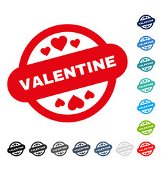 valentine stamp seal icon vector image vector image