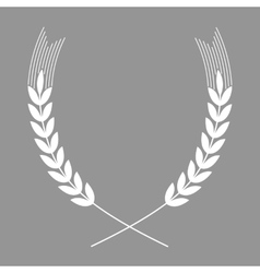 Wheats flat icon vector image