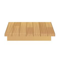 Wooden plate empty resturant utensil vector