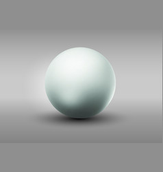 blank gray sphere vector image