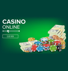casino banner online poker gambling casino vector image