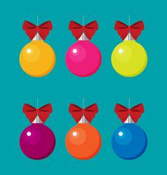 christmas balls flat vector image
