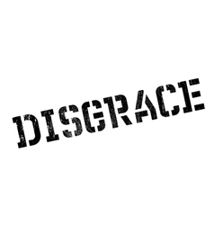 Disgrace rubber stamp vector