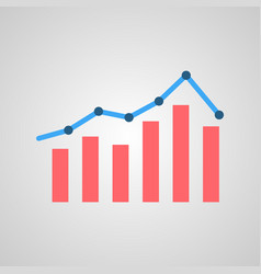 graph with markers vector image vector image