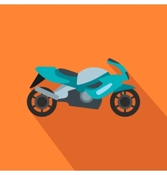 Motorcycle blue flat icon vector image