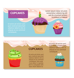 online shopping cupcakes flyers design vector image vector image