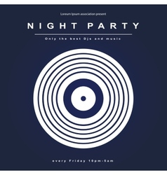 party poster Night club poster vector image