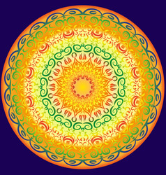 symmetrical circular pattern in bright colors vector image vector image