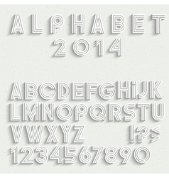 White font numbers and punctuation marks with vector image