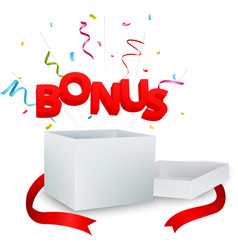 bonus out of the box vector image vector image