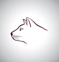 Cat head logo vector image