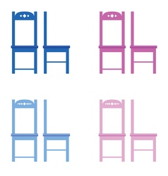 chair set color vector image