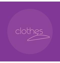 Clothes logo isolated creative fashion vector image