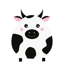 cute kawaii cow character children style vector image vector image