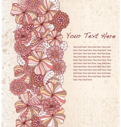floral stripe vector image vector image