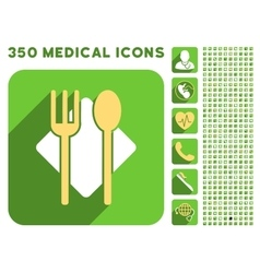 Nutrition Icon and Medical Longshadow Icon Set vector image vector image