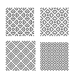 Seamless geometrical ornaments vector image vector image