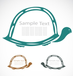 The design of the turtle vector image vector image