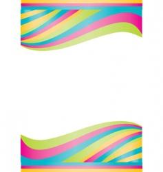 vector color waves vector image