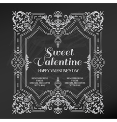 Vintage Valentines Day Card Design vector image