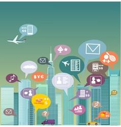 City social network vector image