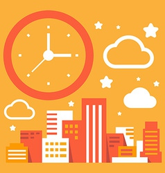 Daytime in the big city vector
