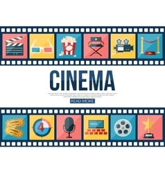 Film strips and cinema icons set for infographics vector image vector image