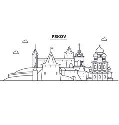russia pskov architecture line skyline vector image