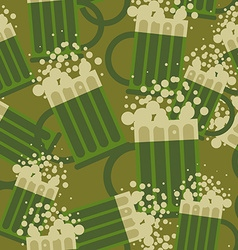 Beer military pattern Mug alcohol army texture vector image vector image