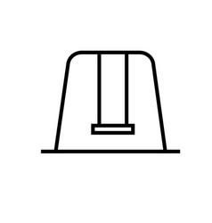 childhood swing icon vector image