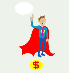 Mr dolar with thumbs up vector image