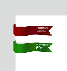 ribbon promotional products design vector image