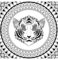 Tiger icon Animal and Ornamental predator design vector image vector image