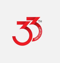 33 th anniversary template design vector