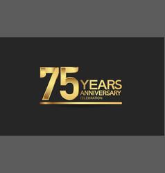 75 years anniversary celebration with elegant vector
