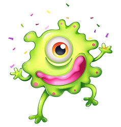 A successful green monster vector image