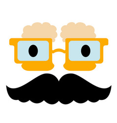 Abstract character with mustache vector